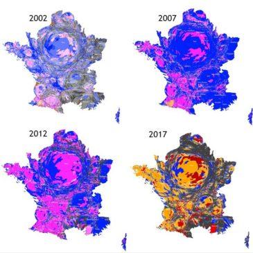 Cartogrammes des élections présidentielles de 2002 à 2017